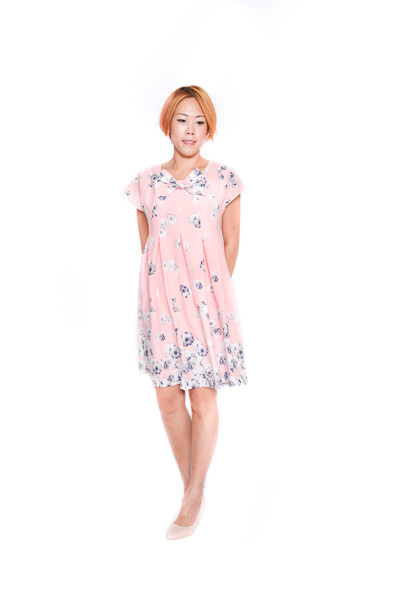 12059ce7cbef Floral Babydoll Dress In Pink