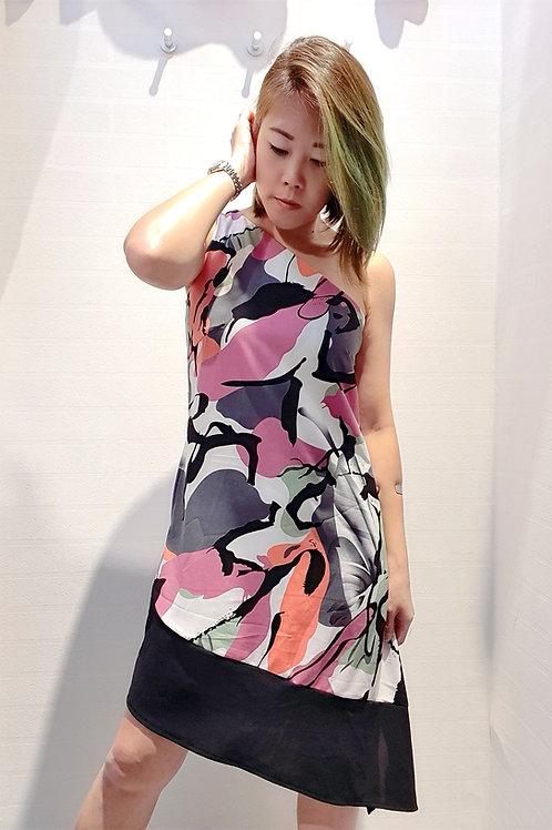 Toga Greyish Abstract Printed Dress
