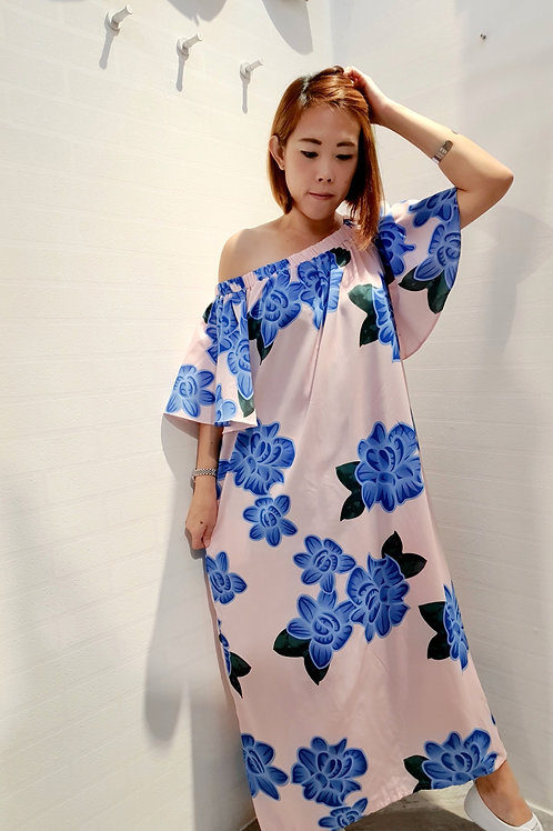 Floral Maxi Multi Way Dress In Pink