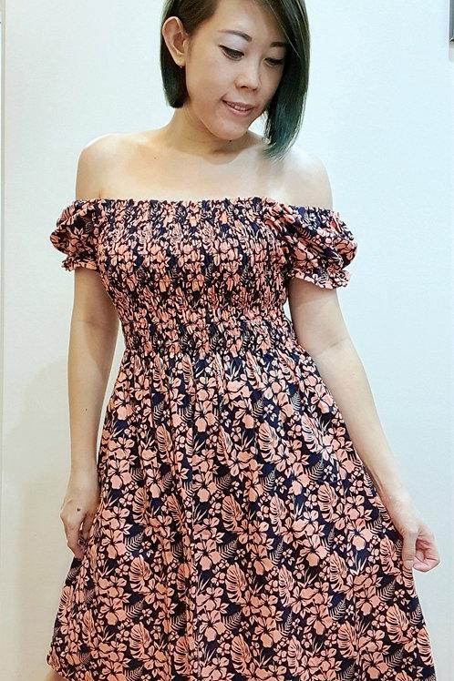 #BM11D Babydoll Dress In Peach