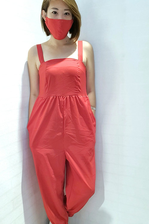 NK-063 JUMPSUITS IN RED