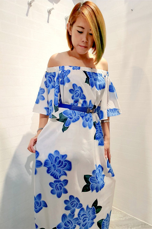 Floral Maxi Multi Way Dress In White
