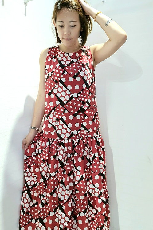 NK-072  MAXI DRESS IN RED