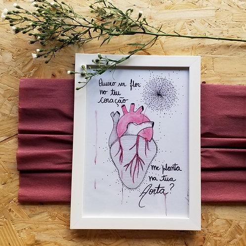 A4 Quero Ser Flor no Teu Coração