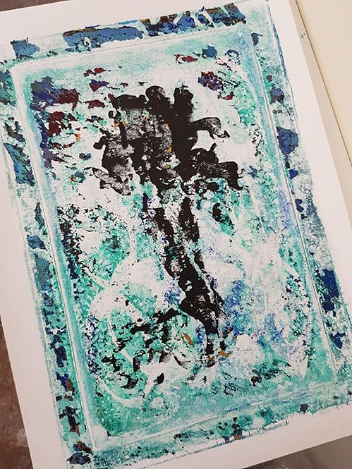 Green with Black Mermaid Limited Edition Print