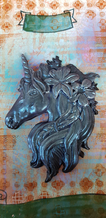 Metallic Blue Unicorn Plaque .. 179