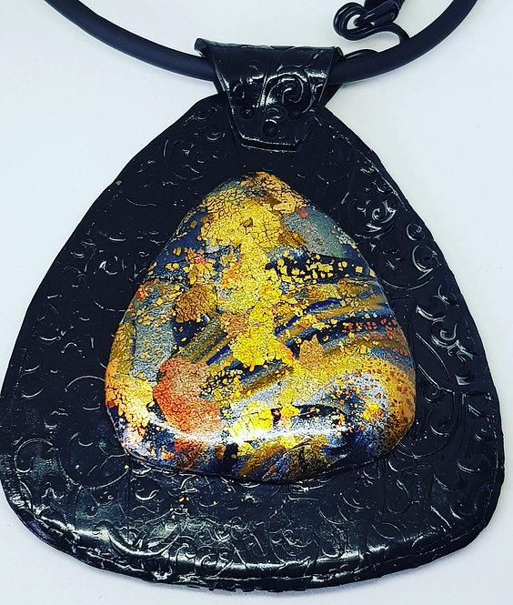 Autumnal Metallics Amulet Pendant .. No. 45 ..