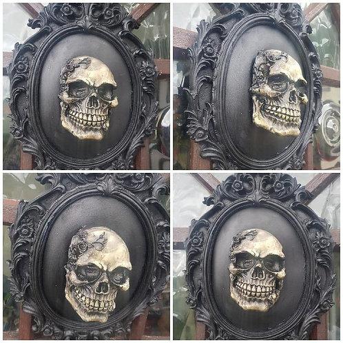 Black Skull Framed Wall Art