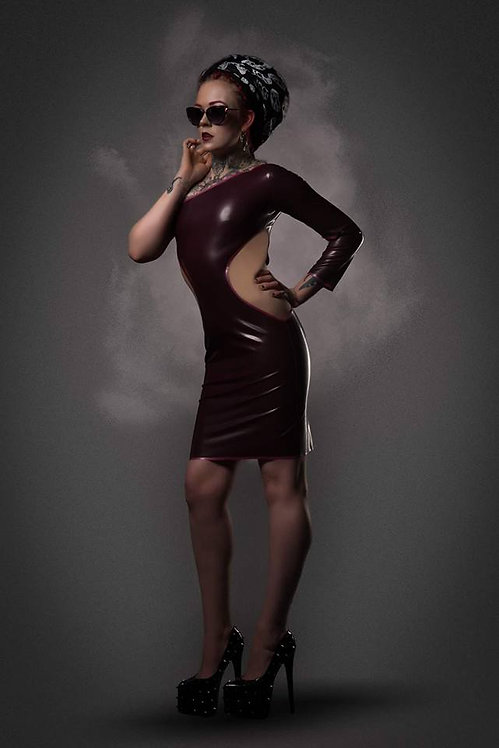 UK size 10-12 - Petite Size Latex *Anahi*  Wiggle Dress  .. SS2016