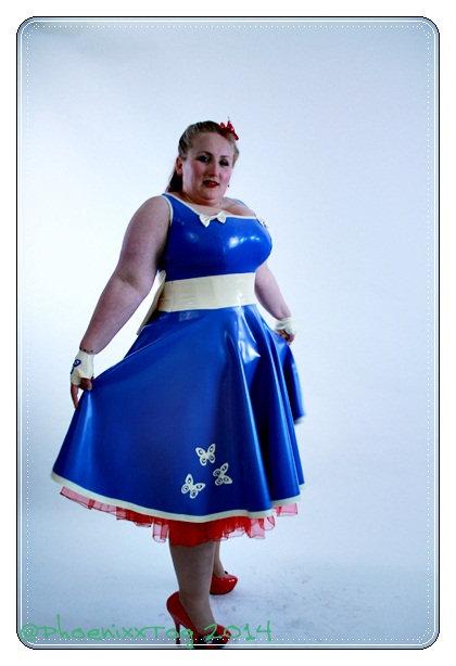 Plus Size Latex *Azariah* 1950s Swing Dress