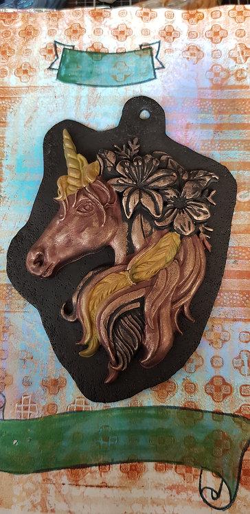 Black & Bronze Unicorn Plaque .. 177