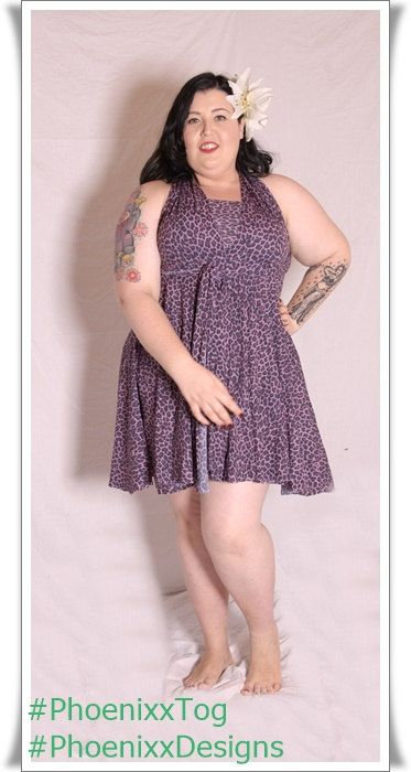 Plus Size Pink Leopard Print Fabric Multiway Dress