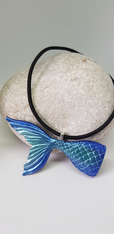 3D Large Mermaid Tail Pendant .. No. 198 ..