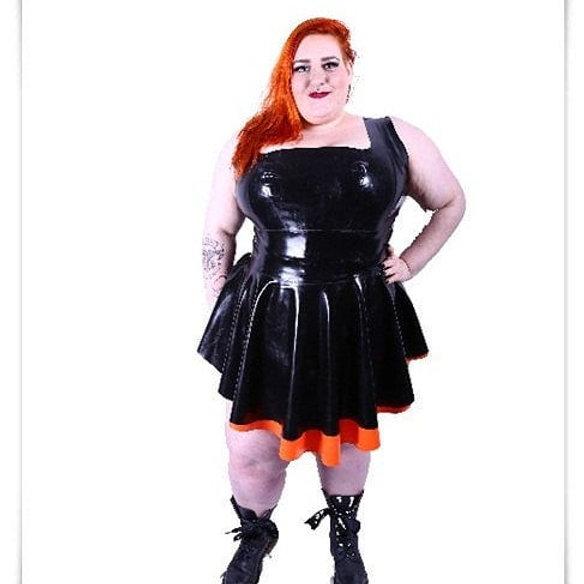 Plus Size Latex Ma\'am Phoenixx Dress