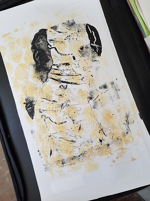 Stone with Black Pharaohs Dog Limited Edition Print