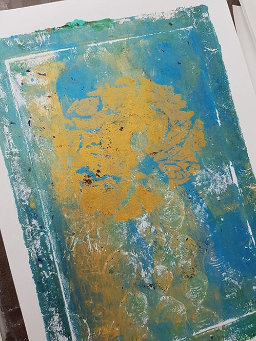 Blue with Gold Sitting Fairy Limited Edition Print