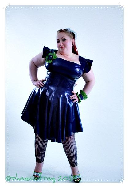 Plus Size Latex *Arisha* Phoenixx Dress
