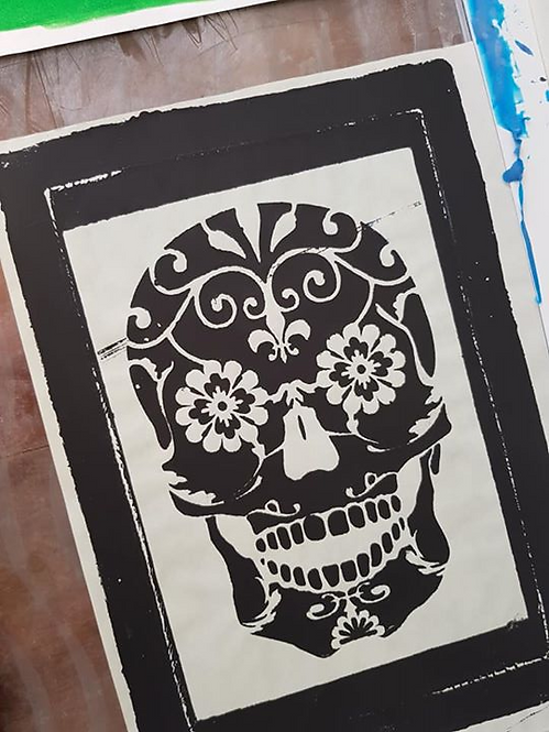 Black Sugar Skull Limited Edition Print