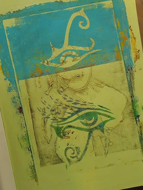 Blue Eye of Horus Limited Edition Print