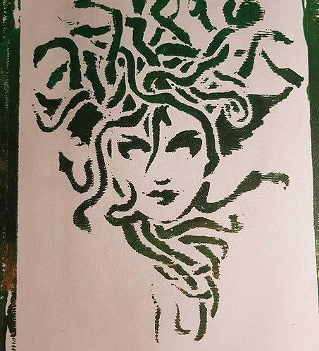 Green & Gold Medusa Limited Edition Print