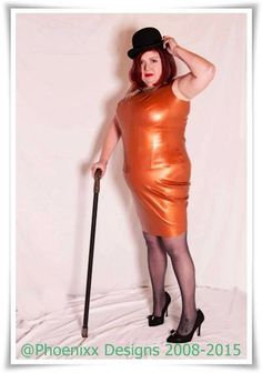 Plus Size Latex *Chava* Wiggle Dress .. SS2014