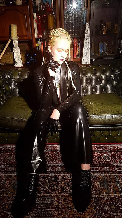 Latex *Christa* Bootleg Trousers  .. SS2017