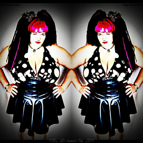 Plus Size Latex *Polka* Halter Phoenixx Dress .. SS2012