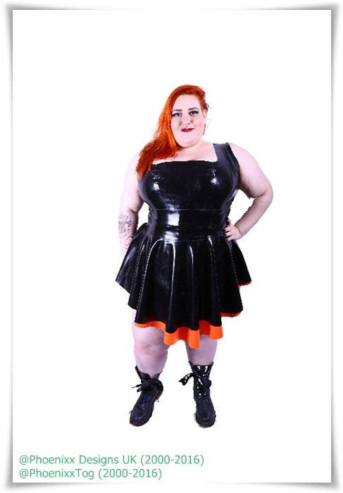 Plus Size Latex Ma'am Phoenixx Dress