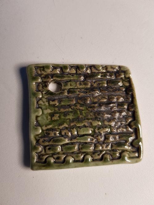 Medium Square Porcelain Pendant