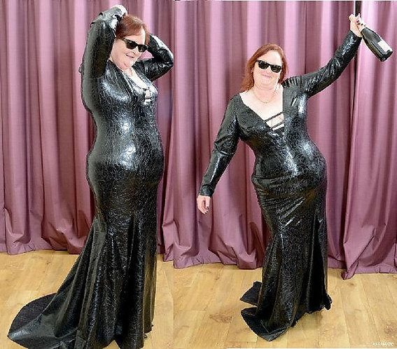Plus Size Latex Phoenixx Full Length Gown