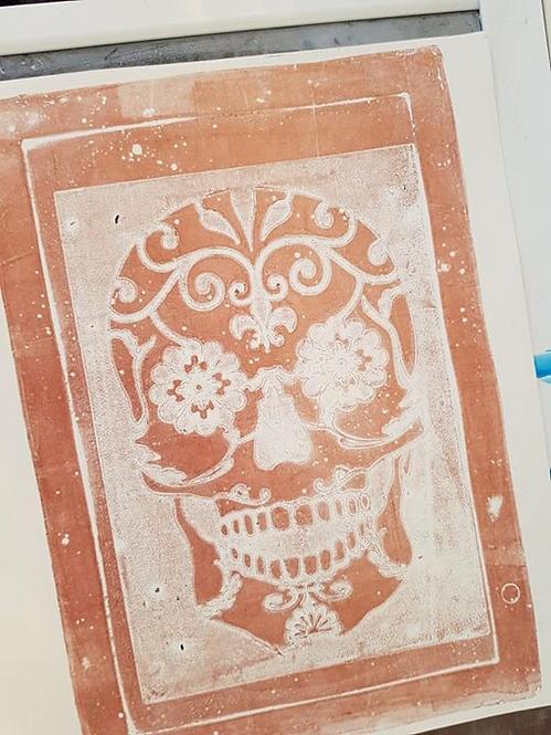 Bronze Sugar Skull Limited Edition Print