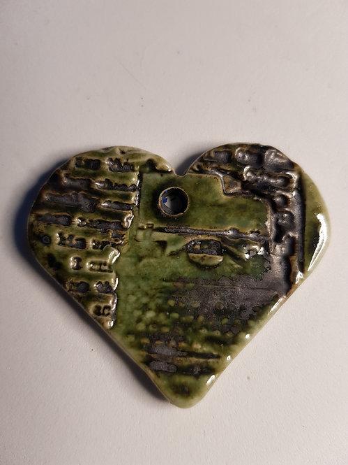 Medium Heart Porcelain Pendant