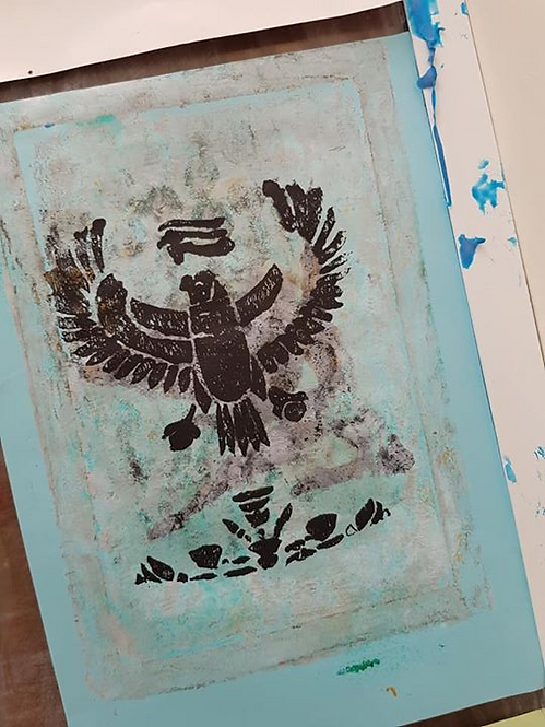 Stone with Black Egyptian Horus Limited Edition Print