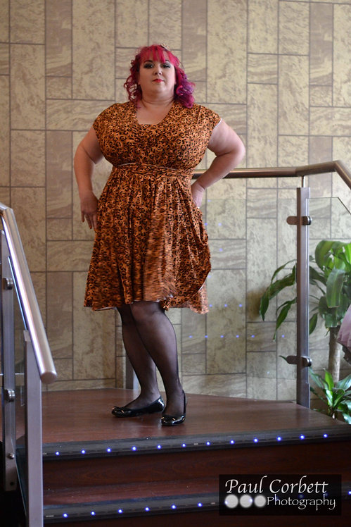 Plus Size Orange Leopard Print Fabric Multiway Dress ..