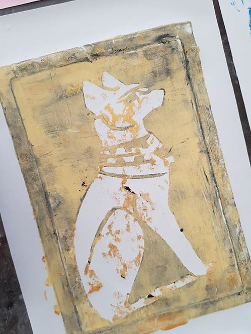 Stone, Gold Pharaohs Dog Limited Edition Print