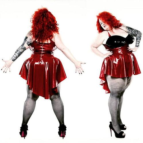 Plus Size Latex Black & Red Bra Phoenixx Dress