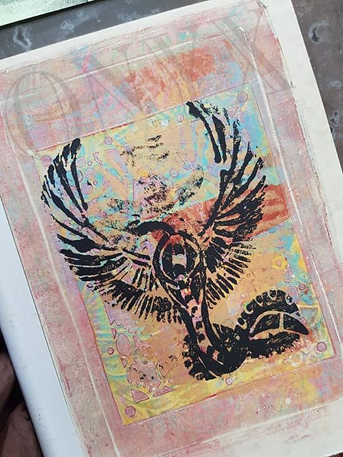 Russet & Black Egyptian Cobra Limited Edition Print