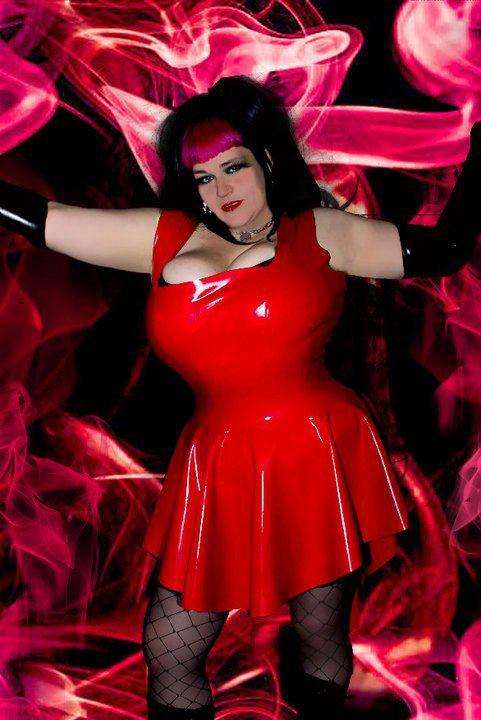 Plus Size Latex *Ashton* Phoenixx Dress .. SS2010