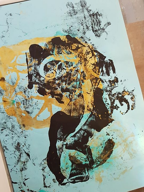 Gold with Black Mermaid Limited Edition Print