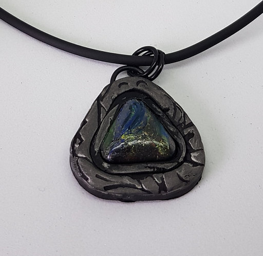 Small Triangle Baby Dragons Scales Pendant .. No.33 ..