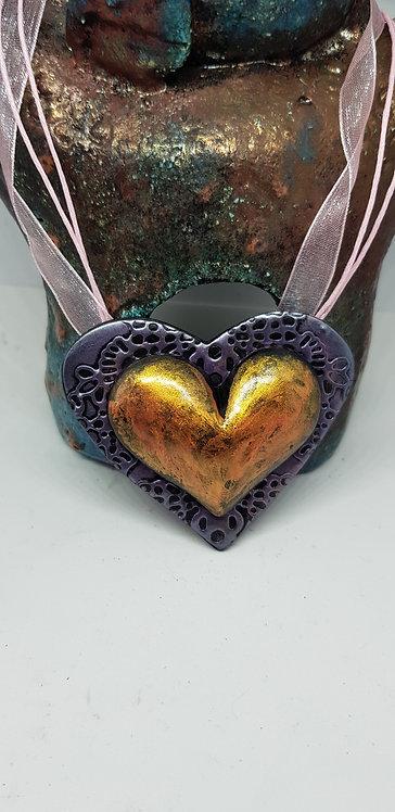 Golden Heart Pendant .. 160 ..