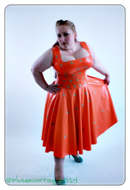 Plus Size Latex *Tango* 1950s Swing Dress .. SS2013