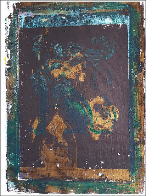 Gold Black & Green Sphinx Limited Edition Print