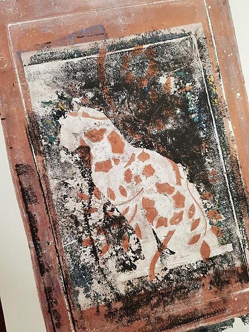 Bronze & Black Egyptian Cat Limited Edition Print