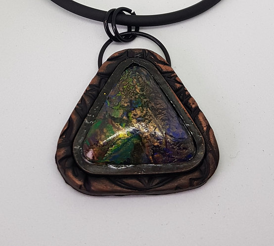 Large Triangle Baby Dragons Scales Pendant .. No.29 ..