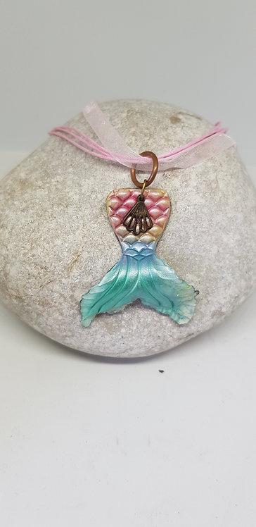 Mini Mermaid Tail Pendant .. No. 185 ..