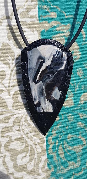 Monochrome Collection .. Amulet Pendant .. No.28 ..