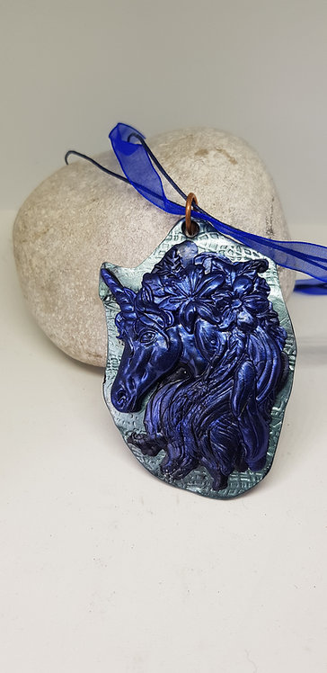Blue & Green Unicorn Pendant .. 176 ..