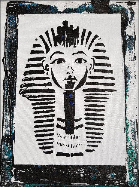 Black & White Ancient Egyptian Mummy Limited Edition Print