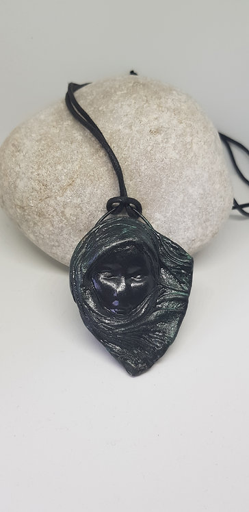 Black Scarfe Lady Amulet Pendant .. No.65 ..